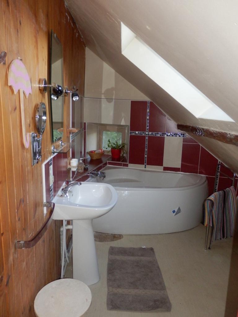 Salle d'eau baignoire d'angle