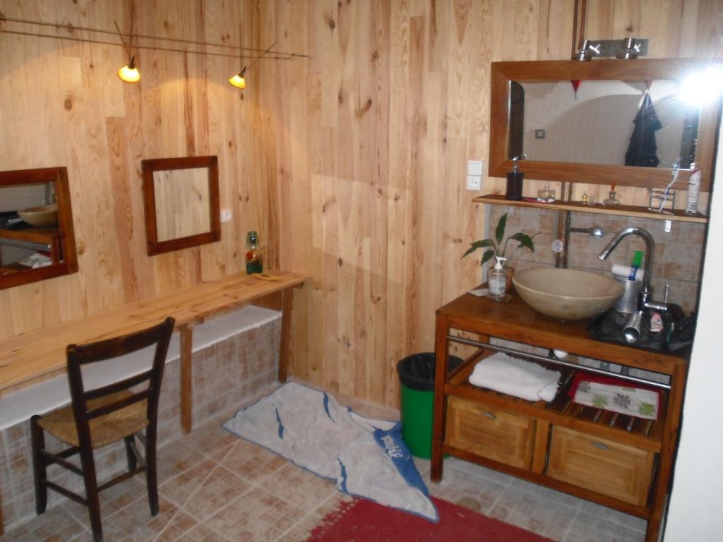 Loge artiste avec douche lavabos.